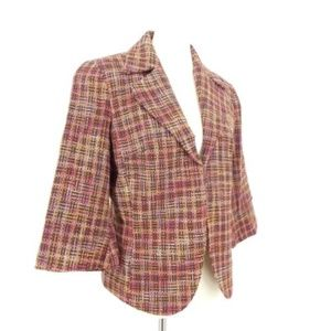 NEW Coldwater Creek Boucle Wool Blend Tweed Blazer